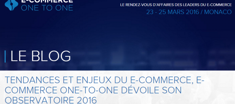 Observatoire E-Commerce One-to-One 2016